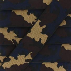 Ruban Élastique Camouflage 45 mm - marron x 1m