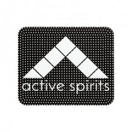 """Écusson plastique à coudre """"Active Spirits"""" - noir"""