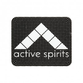 "Plastic Sewing Patch - black ""Active Spirits"""
