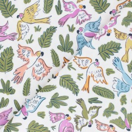 Cloud 9 cotton fabric - Garden of Eden - Joyous Parrots x 10 cm