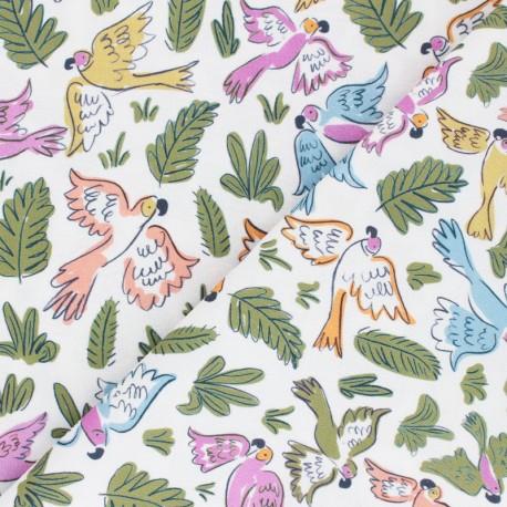 Cloud 9 cotton fabric - Garden of Eden - Joyous Parrots x 10 cm