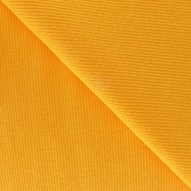 Tissu jersey tubulaire bord-côte 1/2 jaune x 10cm