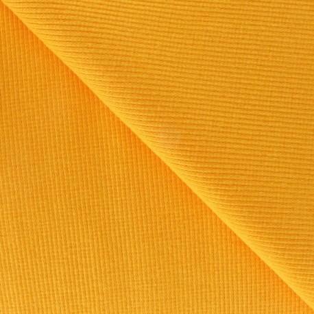 Knitted Jersey 1/2 tubular edging fabric x 10 cm - yellow