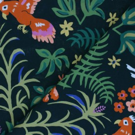 Cloud 9 cotton fabric - Garden of Eden - Exuberant Cockatoos x 10 cm