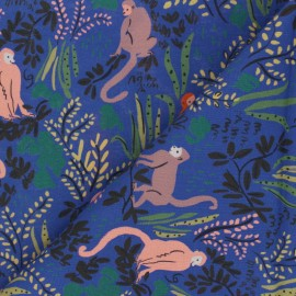 Cloud 9 cotton fabric - Garden of Eden - Tranquil Monkeys x 10 cm