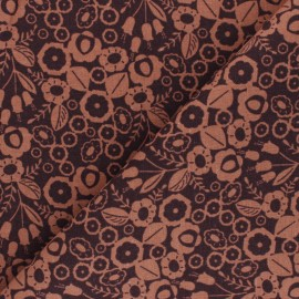 Cotton Steel cotton canvas fabric - orange Emilia Adèle x 10cm