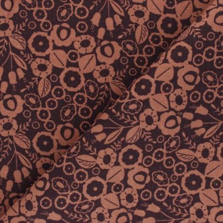 Cotton Steel cotton canvas fabric - orange Emilia Adèle x 10cm