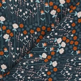 Tissu coton Cotton Steel Emilia - Matilda - bleu marine x 10cm