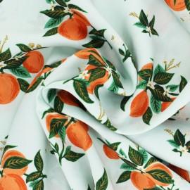Cotton Steel Rayon fabric Rifle Paper co. - Primavera Orange x 10cm