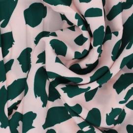 Twill viscose fabric - Rose Urban Leo x 10 cm
