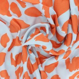 Twill viscose fabric - Sorbet Urban Leo x 10 cm