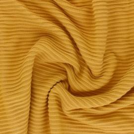 Lenzing™ Ecovero™ viscose fabric - mustard yellow Ottoman Knit x 10cm