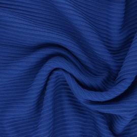 ♥ Coupon 150 cm X 160 cm ♥ Tissu maille Viscose Ottoman Knit - bleu roi