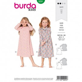 Child Dress Sewing Pattern - Burda Style n°9291