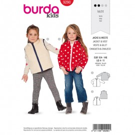 Child Jacket & vest Sewing Pattern - Burda Style n°9290