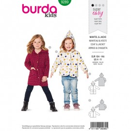 Child Jacket & coat Sewing Pattern - Burda Style n°9289