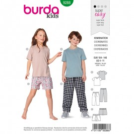 Child pants, short and t-shirt Sewing Pattern - Burda Style n°9288