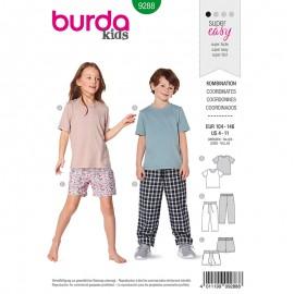 Patron Short, pantalon et T-shirt enfant Burda Style n°9288