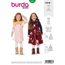 Child dungaree dress Sewing Pattern - Burda Style n°9287