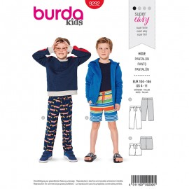 Child pants and short Sewing Pattern - Burda Style n°9292