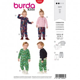 Child pants and vest Sewing Pattern - Burda Style n°9293