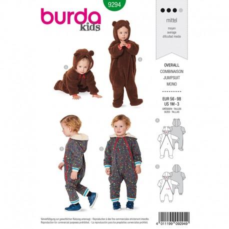 Patron combinaison enfant Burda Style n°9294