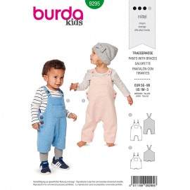 Child dungaree Sewing Pattern - Burda Style n°9295