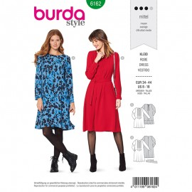 Patron Robe casual Burda n°6162