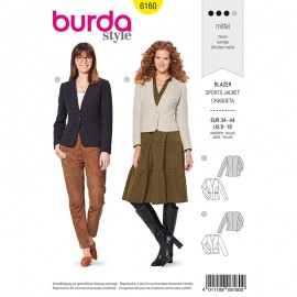 Blazer Sewing Pattern - Burda n°6160