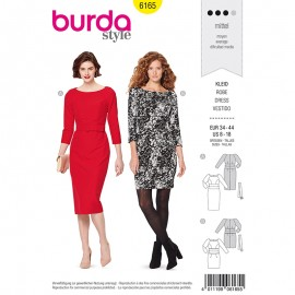Dress Sewing Pattern - Burda Style n°6165