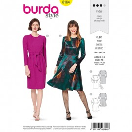 Dress Sewing Pattern - Burda Style n°6164