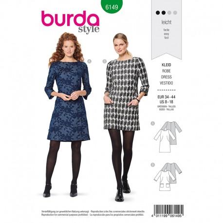 Patron Robe Burda n°6149
