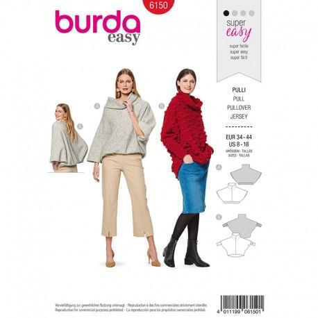 Patron pull chauve-souris –  Burda N°6150