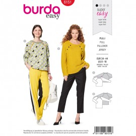 Pullover Sewing pattern Burda N°6163