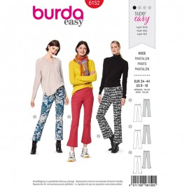 Bell bottom pants Sewing Pattern - Burda Style n°6152