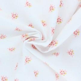Tissu coton Poppy Lovely Flowers - blanc x 10cm