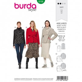 Jacket Sewing Pattern for Woman - Burda n°6156