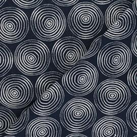 Tissu coton/lin Dashwood Midnight Garden - Circles x 10cm
