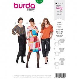 Blouse and dress Sewing Pattern  Burda N°6155