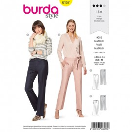 Pants Sewing Pattern - Burda Style n°6157