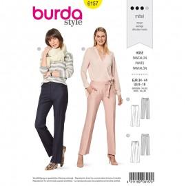 Patron pantalon droit Femme - Burda n°6157