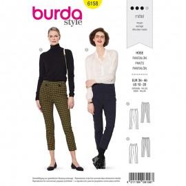 Patron pantalon avec ceinture Femme - Burda n°6158