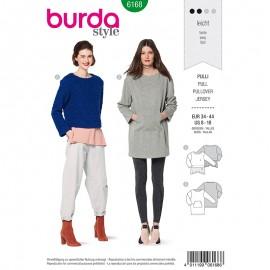 Patron pull Femme –  Burda N°6168