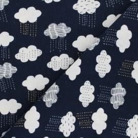 Linen/Cotton Dashwood fabric Midnight Garden - Rainy Night x 10cm