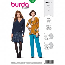Blouse Sewing Pattern  Burda N°6169
