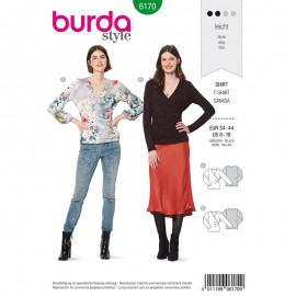 T-shirt Sewing Pattern  Burda N°6170