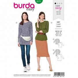 Patron T-shirt manches longues Femme –  Burda N°6171