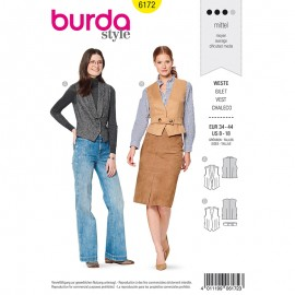 Costume Jacket Sewing Pattern for Woman - Burda n°6172