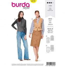 Patron Gilet de costume Femme - Burda n°6172