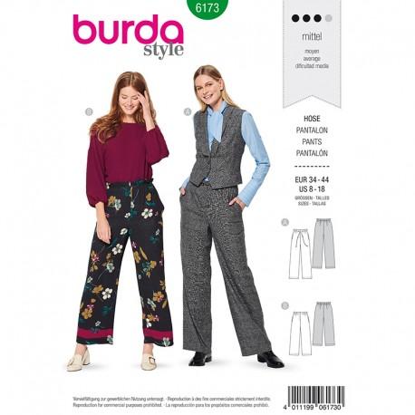 Patron pantalon à coulisse élastiquée Femme - Burda n°6173